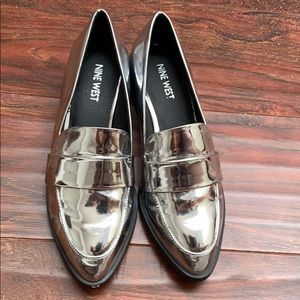 Nine West holographic loafers
